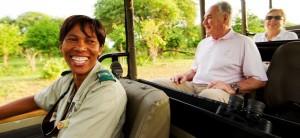 Unterwegs mit einem weiblichen Safariguide in Botswana, Chobe Game Lodge