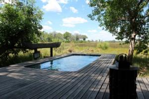Privat-Pool der Xudum Okavango Delta Lodge, Botswana, von Tanja Köhler