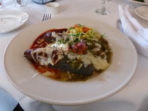 Blue Corn Enchiladas im Santa Cafe in Santa Fe. iwanowski.blog